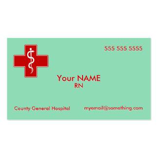 Nurse Scrubs Green Pack Of Standard Business Cards
