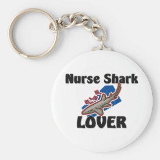 Nurse Shark Lover Basic Round Button Key Ring