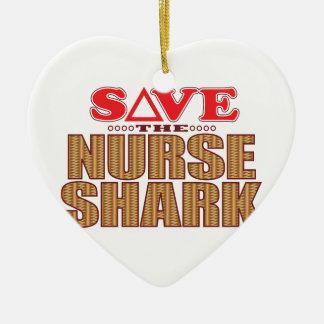 Nurse Shark Save Christmas Ornament