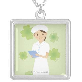 Nurse Silver Plated Necklace