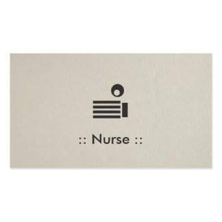 Nurse Simple Elegant Professional Pack Of Standard Business Cards