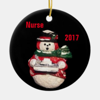 NURSE SNOWMAN 2017 COLLECTOR CHRISTMAS OPRNAMENT CHRISTMAS ORNAMENT