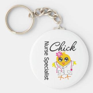 Nurse Specialist Chick v2 Key Chains