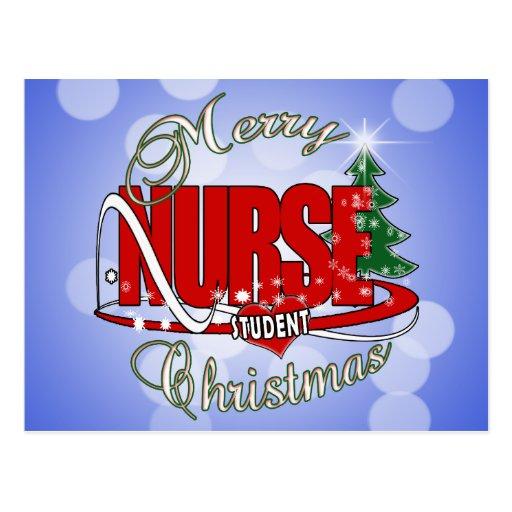 NURSE STUDENT CHRISTMAS POSTCARD