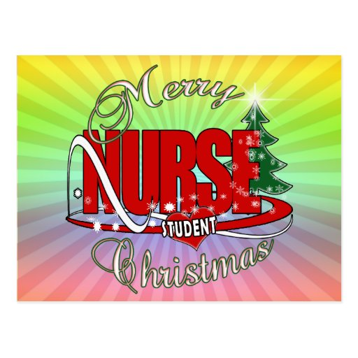 NURSE STUDENT CHRISTMAS POST CARDS