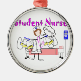 Nurse Student--school Silver-Colored Round Decoration