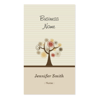 Nurse - Stylish Natural Theme Pack Of Standard Business Cards