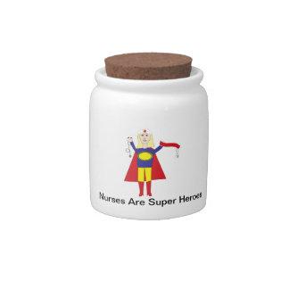 Nurse Superhero Blonde Candy Jar