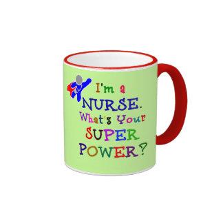 Nurse Superhero Ringer Coffee Mug