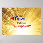 Nurse Superhero Poster