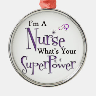 Nurse Superpower Christmas Ornament