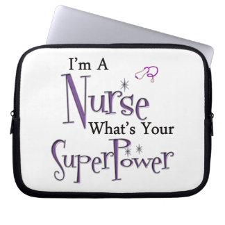 Nurse Superpower Laptop Computer Sleeve