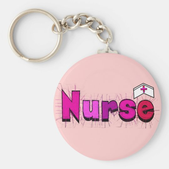 """NURSE""  T-shirts and Gifts Basic Round Button Key Ring"