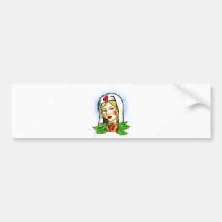 Nurse Tattoo Bumper Sticker