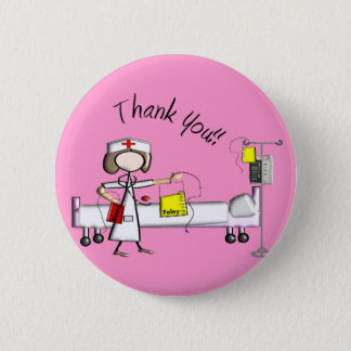 "Nurse ""Thank You"" Gifts 6 Cm Round Badge"