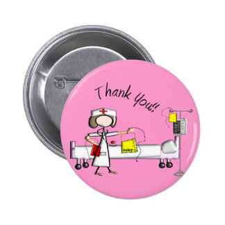 "Nurse ""Thank You"" Gifts 6 Cm Round Badge"