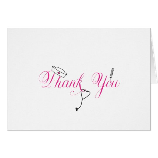 Nurse Thank You Note Hot Pink Hand Calligraphy