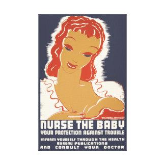Nurse the Baby Canvas Prints