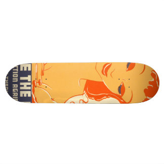Nurse the Baby. Your protection against trouble. 21.6 Cm Skateboard Deck