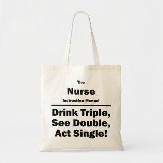 nurse budget tote bag
