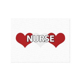 Nurse Triple Heart Canvas Prints