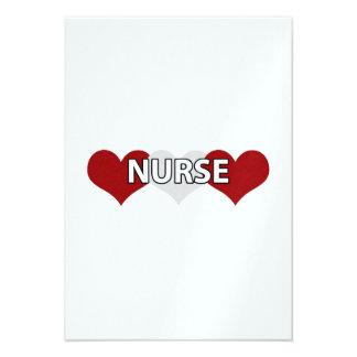 Nurse Triple Heart Personalized Invite