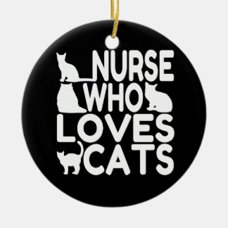 Nurse Who Loves Cats Christmas Ornament