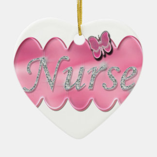 Nurse With Butterfly Christmas Ornament