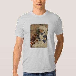 Nurse with Golden Retriever Vintage WW1 Tee Shirt