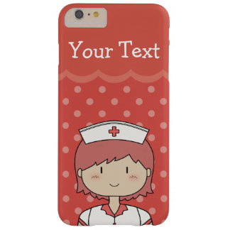 Nurse with Short Red Hair and Your Text Barely There iPhone 6 Plus Case