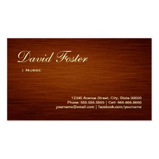 Nurse - Wood Grain Look Pack Of Standard Business Cards