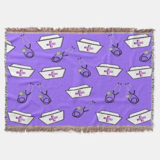 Nurse Woven Blanket Purple
