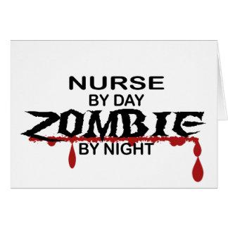 Nurse Zombie Greeting Cards