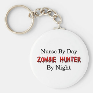 Nurse/Zombie Hunter Basic Round Button Key Ring
