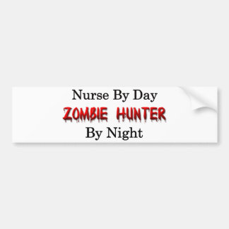 Nurse/Zombie Hunter Car Bumper Sticker