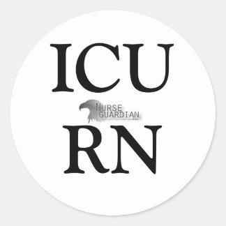 Nurseguardianlogo, ICURN Round Sticker