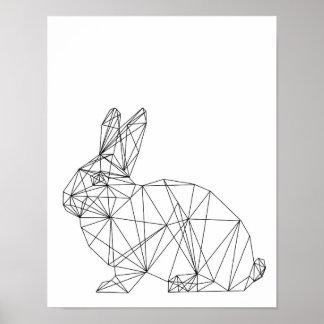 Nursery Animal Rabbit Bunny Minimal Wall Art