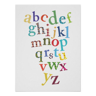 Nursery Art | Alphabet Print