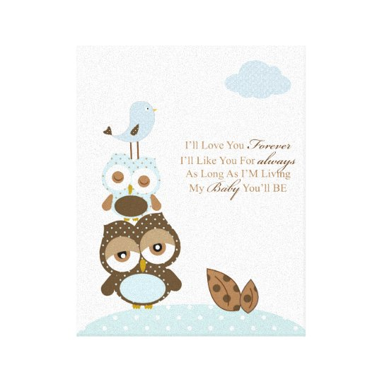 Nursery baby boy art- I will love you