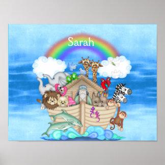 NURSERY CUSTOM Noahs Ark RAINBOW MURAL Posters