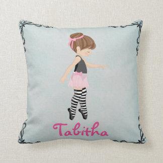 Nursery Dancer Ballerina Pink Girl Pillow