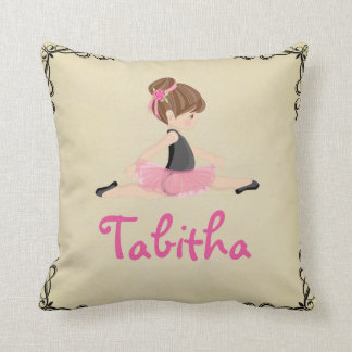 Nursery Dancer Ballerina Pink Girl Pillow