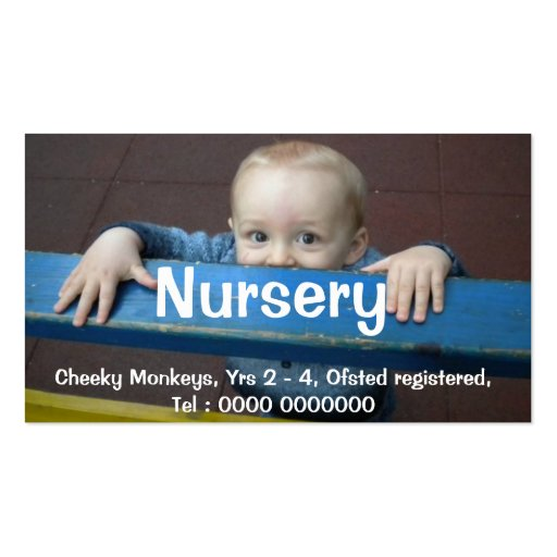 Nursery Flyer Business Cards