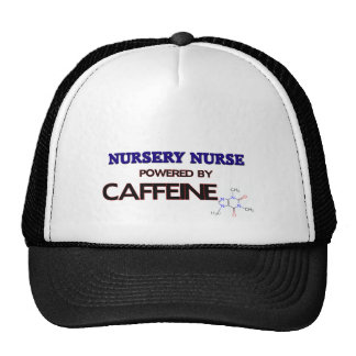 Nursery Nurse Powered by caffeine Mesh Hat