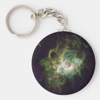 Nursery of stars in a spiral galaxy basic round button key ring