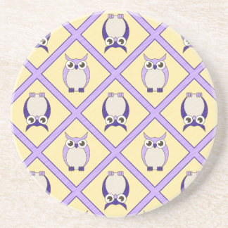 Nursery Owls Coaster - Blue