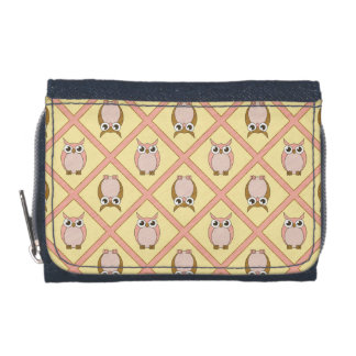Nursery Owls Wallet - Pink