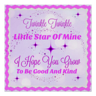 Nursery Quote Poster - Baby Girl