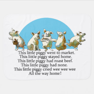 Nursery Rhyme Blanket Receiving Blanket