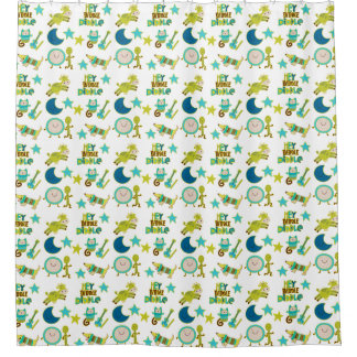 Nursery Rhyme Hey Diddle Diddle Shower Curtain